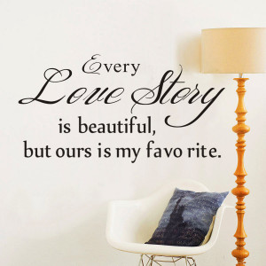 Story Is Beautiful!Removable DIY Wall Stickers Quotes And Love Poems ...