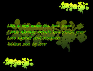 Evergreen - Barbra Streisand Song Lyric Quote in Text Image