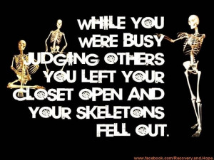Judging others.