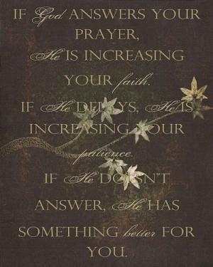God's Answers to Prayer