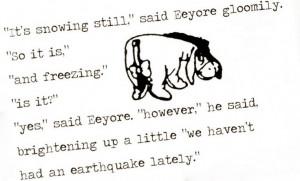 Eeyore quote greetings card: