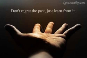 Don't Regret The Past, Just Learn From It