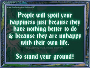 Stand your ground...