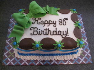 80th Birthday Cake for GG Image