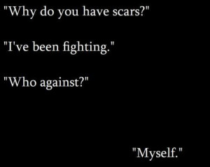 depression self harm scars