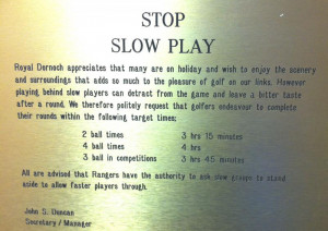 ... knows i ve been having my frustrations with slow players at my club