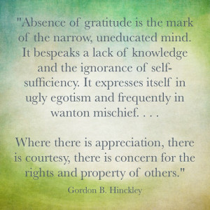 Excellent quote for this week. Happy Thanksgiving my friends