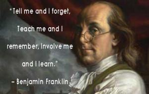 Ben Franklin Quote Teaching