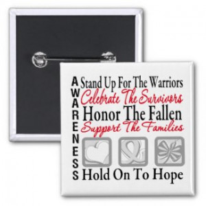 Stand Up Celebrate Honor Collage Lung Cancer by giftsforawareness.com