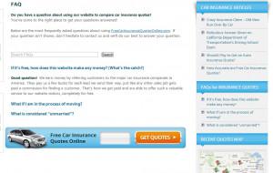 Auto Insurance Quotes Car