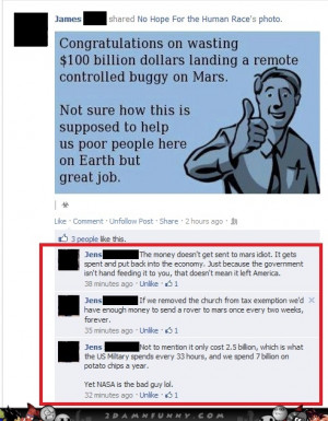 Facebook Users Shining A Light On An Ignorant And Stupid Post