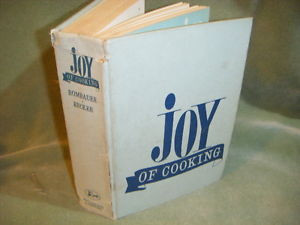 1962 BLUE THE JOY OF COOKING by MARION IRMA S ROMBAUER HC vintage
