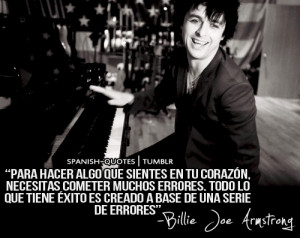 True words from the Green Day lead singer #quotes #citas #frases Band ...