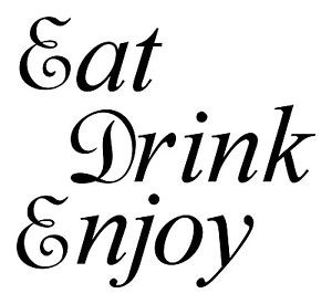 Eat-Drink-Enjoy-kitchen-dinner-lunch-family-fun-quote-home-wall-decal ...