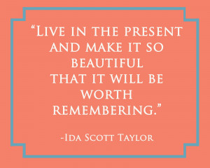 "saw this quote on Pinterest and I knew that ""Present"" was the ..."