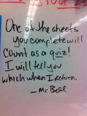 Teacher's Note To Class Guarantees No Slacking Off (PHOTO)