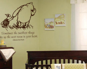 Classic Pooh - Sometimes the Smalle st Things - Baby Nursery Quote ...