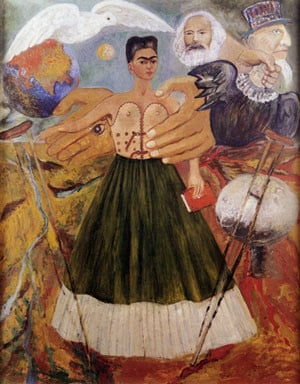 His wife Frida Kahlo painted this picture titled Marxism Will Give ...