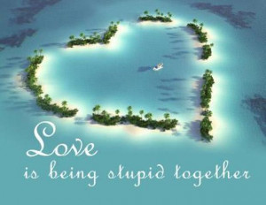 Quotespictures Love Being Stupid Together Quote
