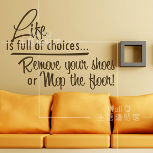 Do it ] Life is full off choices Quotes wall art stickers Quote 14 ...