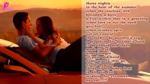 Romantic Good Night Quotes For Him Some nights, when the fire