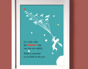 THE LITTLE PRINCE wall art decor, digital print, art poster quote