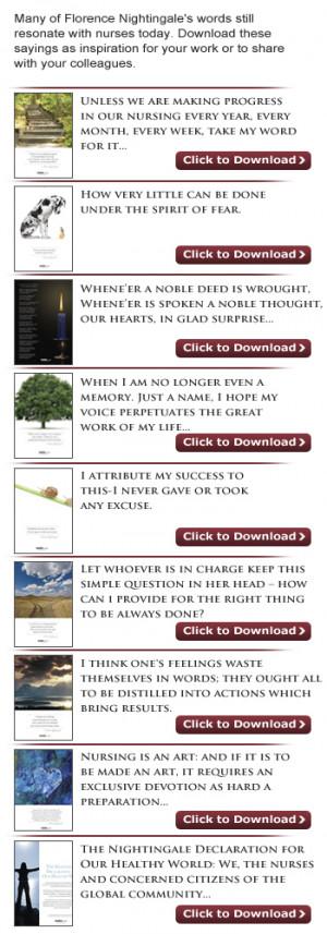 Florence Nightingale Quotes Nursing http://topics.nurse.com ...