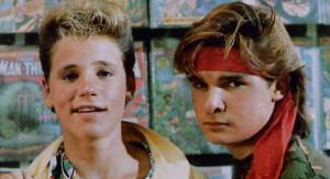 Young stars circa 1987: Corey Haim (left) and Corey Feldman