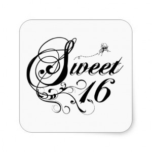 Sweet Sixteen (16) Quotes Sticker