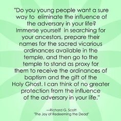 Lds Quotes On Family History Lds family history quote