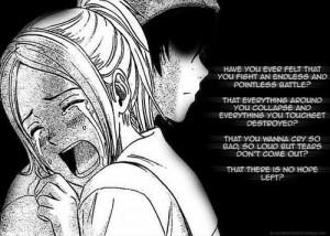 Sad anime girl...