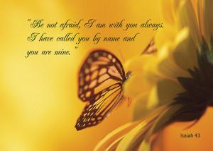 ... › Portfolio › Be Not Afraid, Butterfly Flower, religious