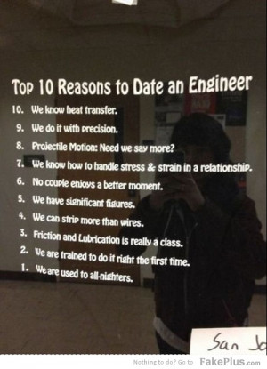 top 10 reasons to date an engineer