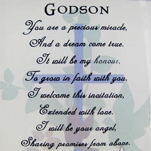 ... Godchild Photo Frames Godson Sentiment Words and Two Photo Frame