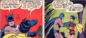 Batman Slaps Robin In the Face