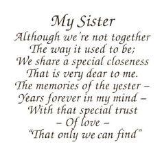 Sister Poems