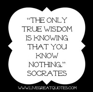 Socrates Quotes On Wisdom Wisdom