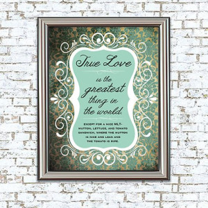 ... Love MLT 8x10 Print princess bride quote by WrittenAndRusted, $12.00