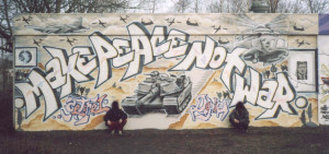 Make Peace Not War, Purmerend, Holland, by Dopie and Getone