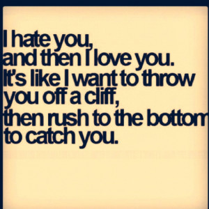11 I Hate You but I Love You Quotes