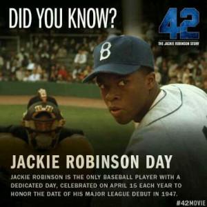 Happy Jackie Robinson Day #42