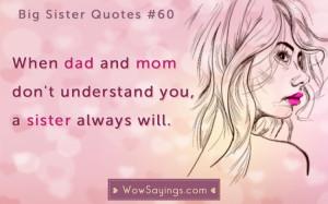 Big Sister Quotes #60 at WowSayings.com
