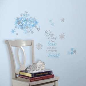 Frozen Let It Go Quotes Wall Decals - Wall Sticker Outlet