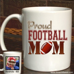 Proud Football Mom Photo Coffee Mug