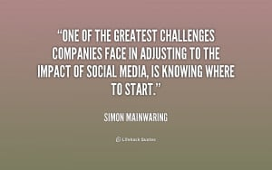 One of the greatest challenges companies face in adjusting to the ...