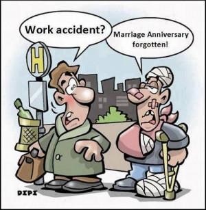 Marriage anniversary forgotten
