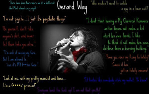 Gerard Way Quotes by MusicRocks00