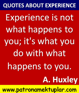 quotes about experience aldous huxley