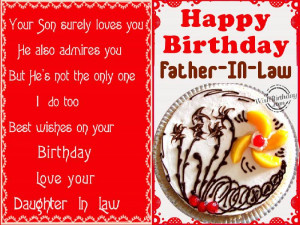 Birthday Wish Father Law From Daughter Wishbirthday