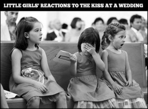 first kiss at a wedding, funny pictures